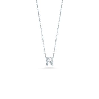18KT GOLD LOVE LETTER N PENDANT WITH DIAMONDS