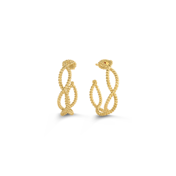 18Kt Gold Hoop Earrings
