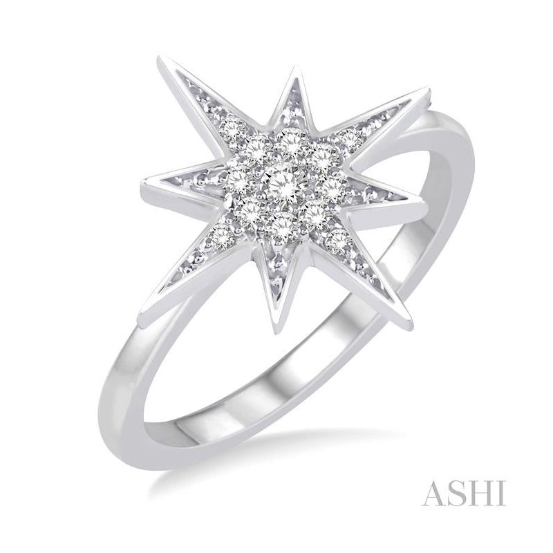 ASHI star diamond ring