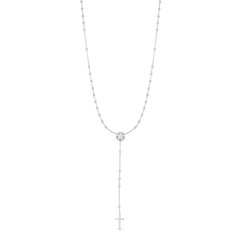Royal Chain Silver Medal Rosary Necklace