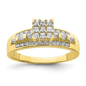 10K CZ Micropave Solitarie Ring