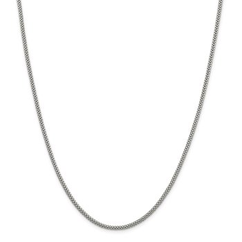 Sterling Silver 2.4mm Corona Chain