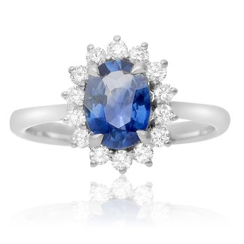 Prong Set Oval Sapphire Ring