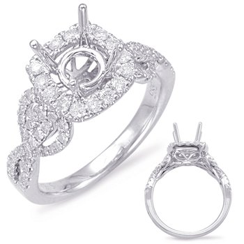 White Gold Halo Engagem