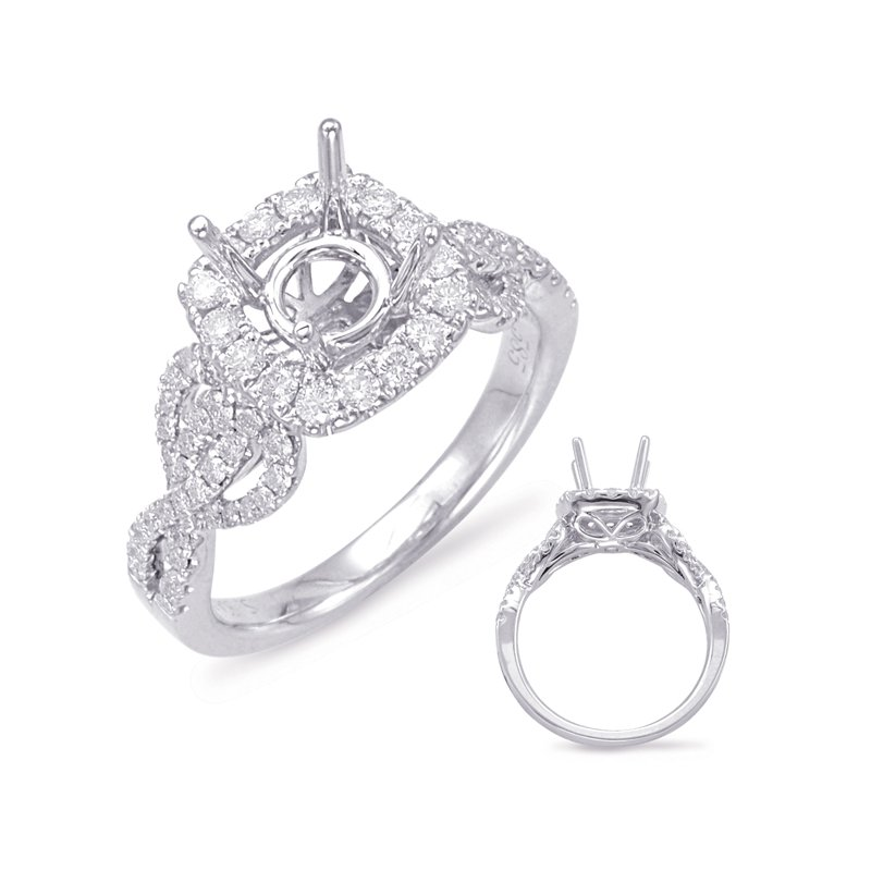 S. Kashi & Sons Bridal White Gold Halo Engagem