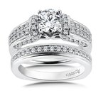 Caro74 Diamond Engagement Ring Mounting in 14K White Gold with Platinum Head (.55 ct. tw.)