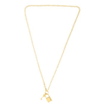 14K Gold Lock & Key (Forever) Necklace