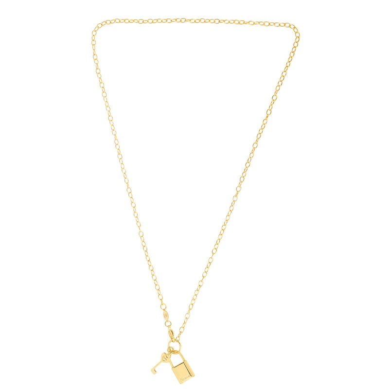 Royal Chain 14K Gold Lock & Key (Forever) Necklace