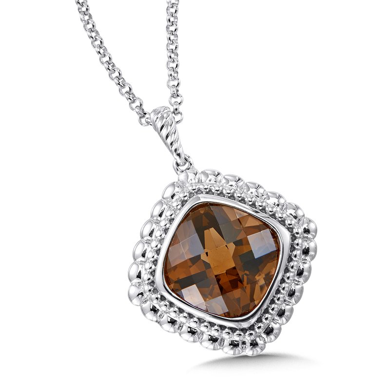 Colore Sg Sterling Silver Smoky Quartz Pendant