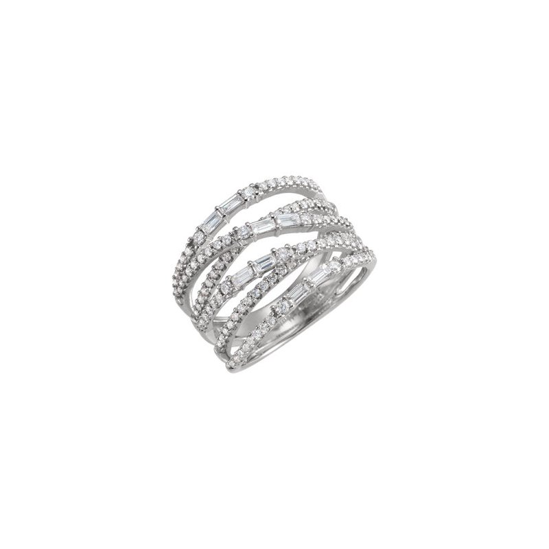 Stuller 14K White 1 CTW Diamond Negative Space Ring