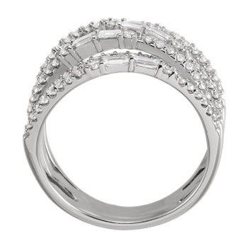 14K White 1 CTW Diamond Negative Space Ring