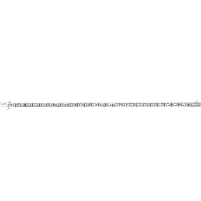 Gems One 14K White Gold Diamond Channel Bracelet