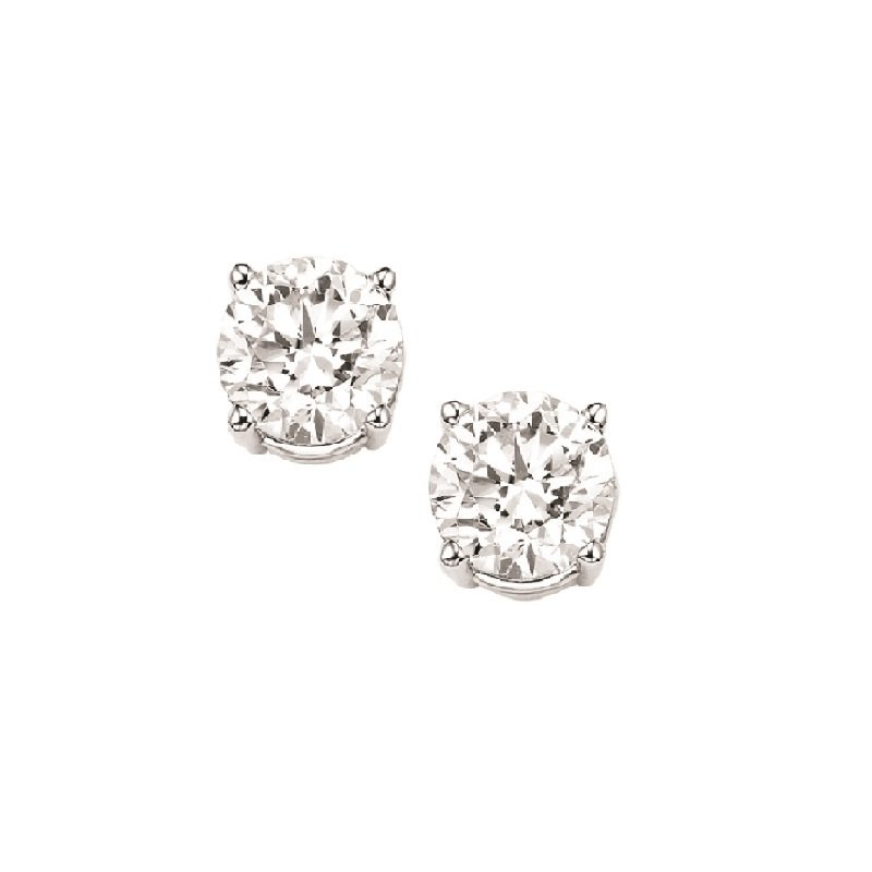 Gems One Diamond Stud Earrings in 18K White Gold (1/5 ct. tw.) I1/I2 - J/K