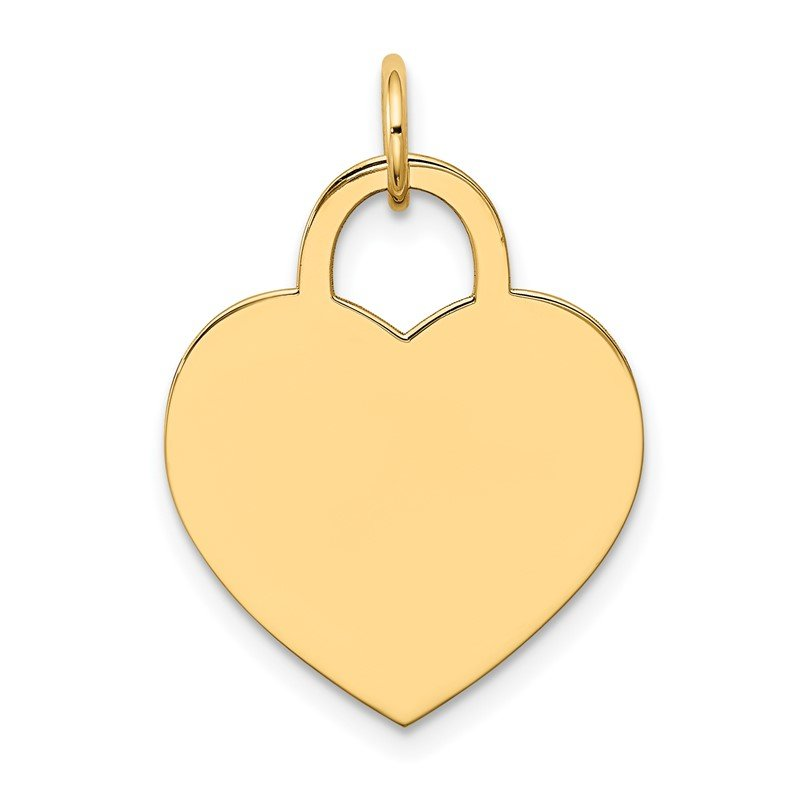 Quality Gold 14k Large Engravable Heart Charm