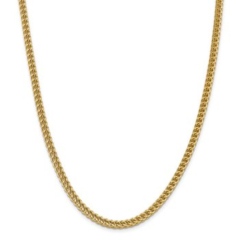 14k 4.5mm Semi-Solid Franco Chain