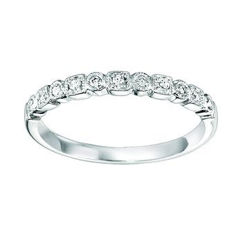 10K Diamond Mixable Ring 1/10 ctw