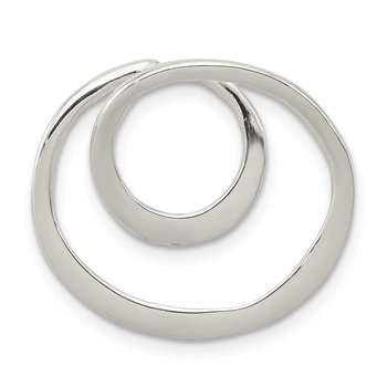 Sterling Silver Polished Circle Chain Slide