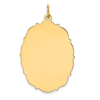14k Plain .018 Gauge Engravable Disc Charm