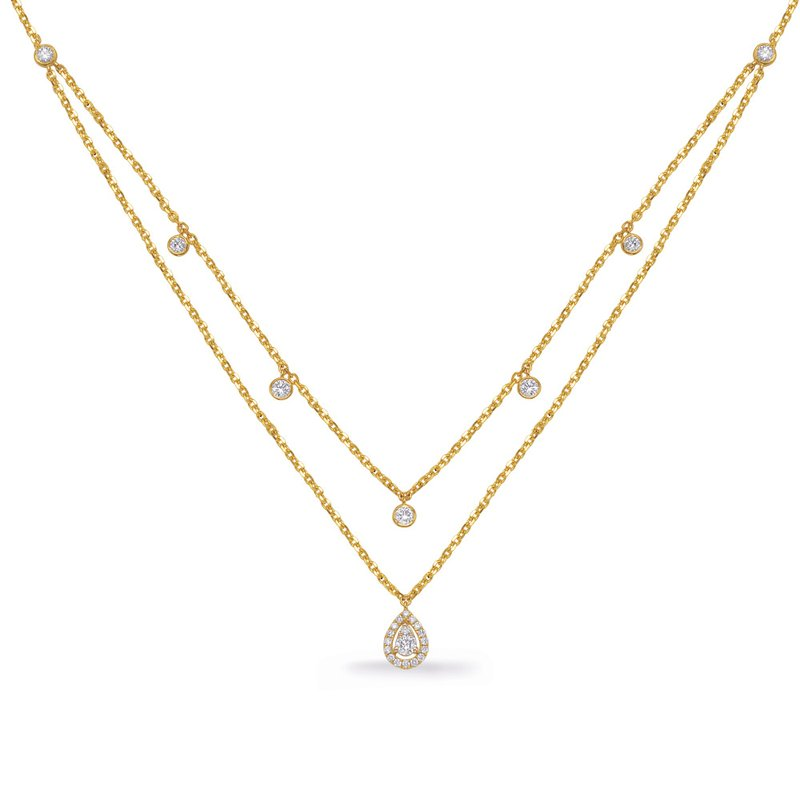 S. Kashi  & Sons Yellow Gold Diamond Necklace