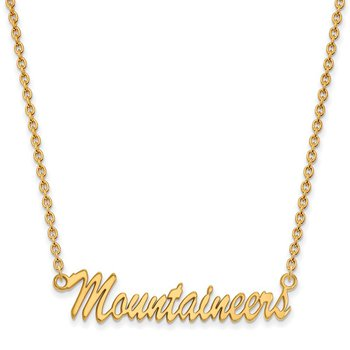 Gold-Plated Sterling Silver West Virginia University NCAA Necklace