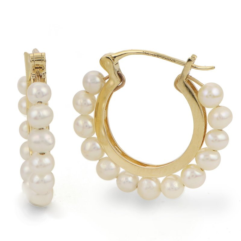 Imperial Pearl 14K Yellow Gold Freshwater Pearl Earring