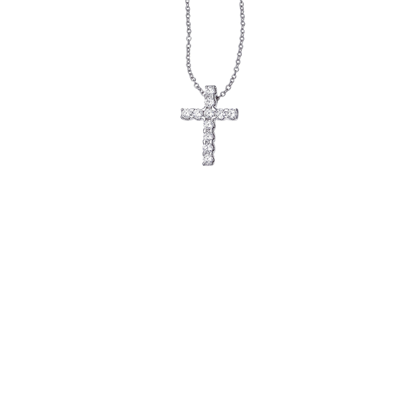 Roberto Coin Cento Large Eternity Cross Pendant