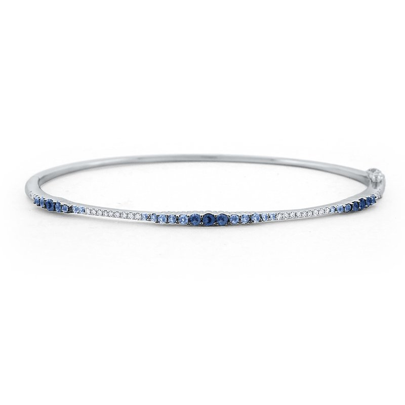 KC Designs Blue Sapphire & Diamond Ombre Bangle Set in 14 Kt. Gold