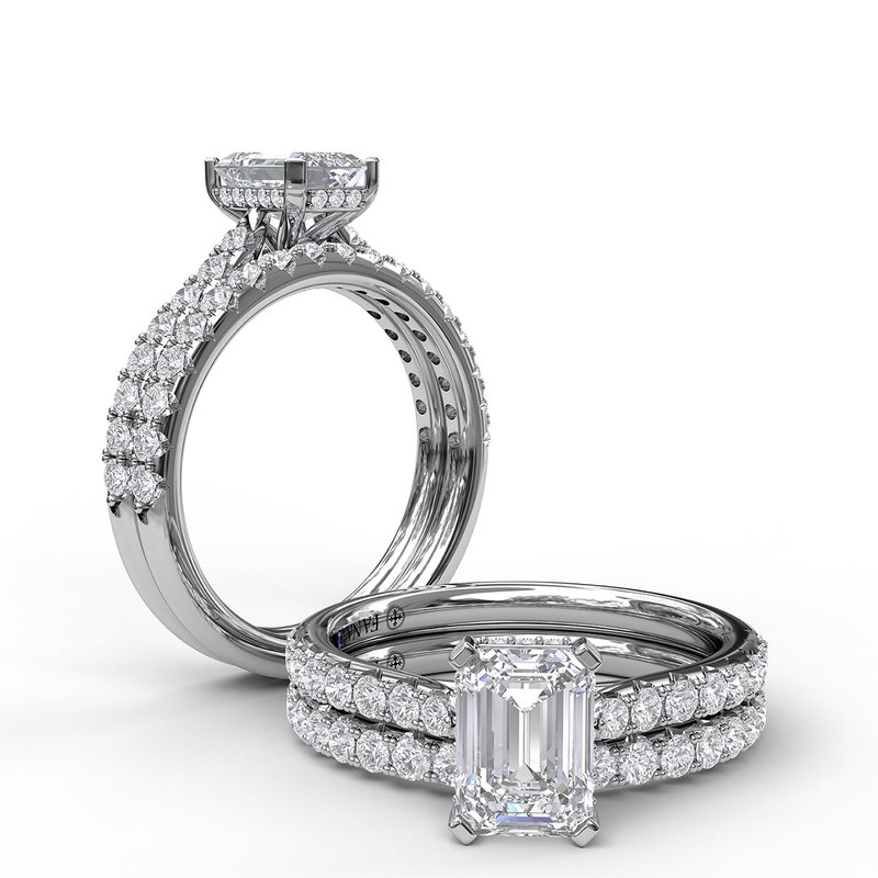 Fana Emerald Cut Solitaire With Hidden Halo