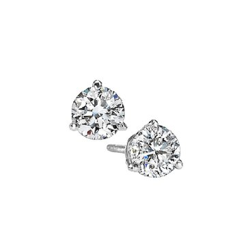 Martini Diamond Stud Earrings in 14K White Gold (1/8 ct. tw.) I1 - G/H