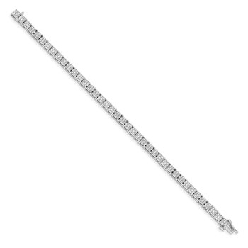 14k White Gold Cluster Setting Diamond Bracelet