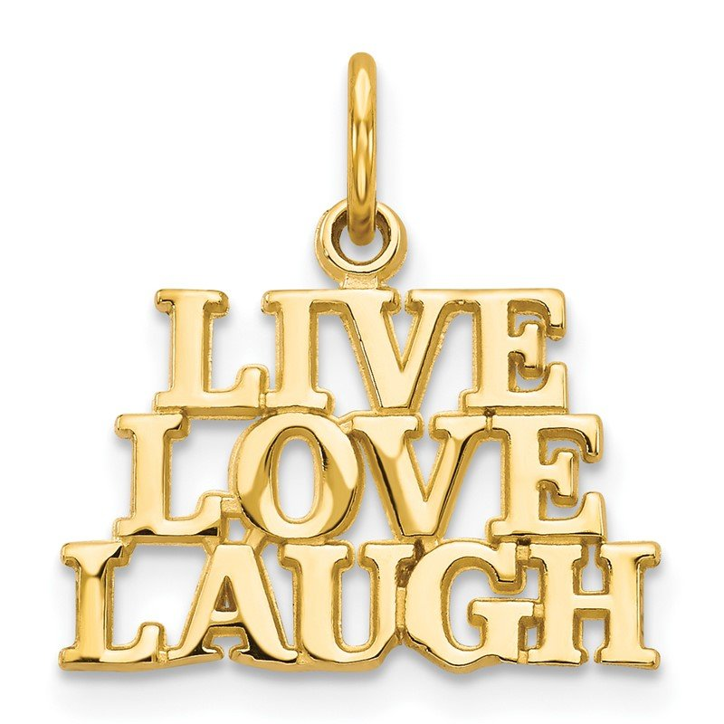 Quality Gold 14K Talking - LIVE LOVE LAUGH Charm