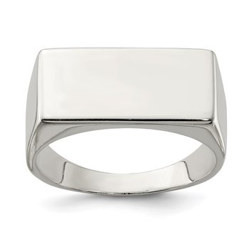 Sterling Silver 9x19mm Closed Back Signet Ring