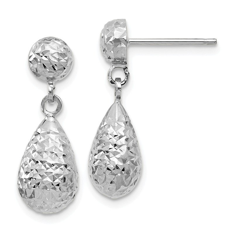Leslie's Leslie's 10K White Gold D/C Post Dangle Earrings