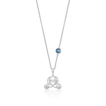Sterling Silver 0.03CTW Cinderella Necklace