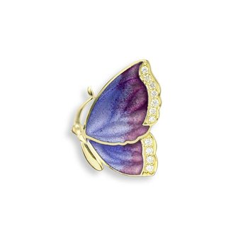Purple Butterfly Pendant.18K -Diamond