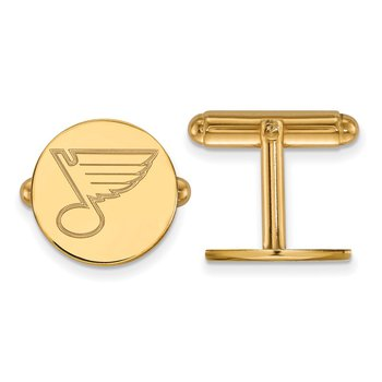 Gold-Plated Sterling Silver St. Louis Blues NHL Cuff Links