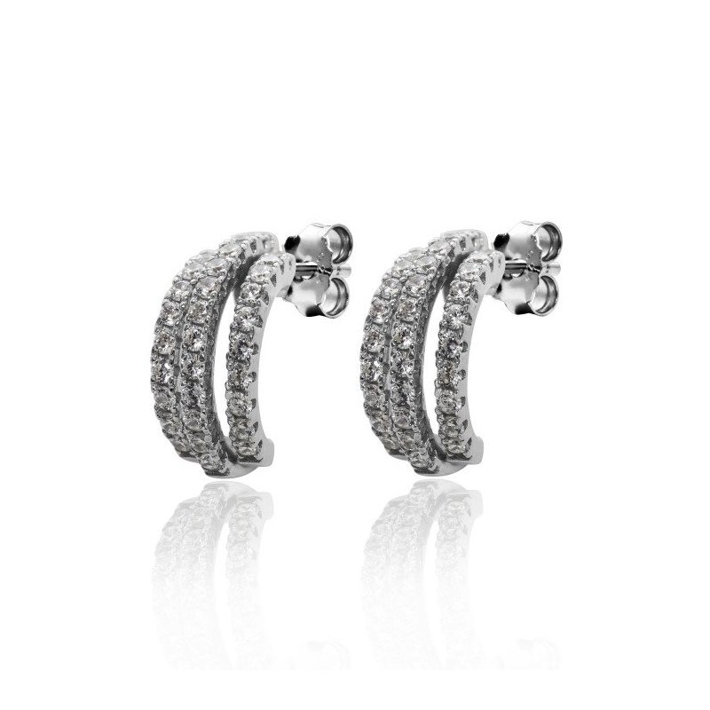 LARUS Jewelry Sparkling Crescent Earrings