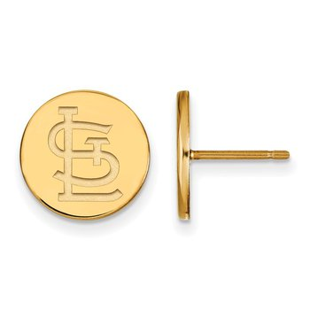 Gold-Plated Sterling Silver St. Louis Cardinals MLB Earrings