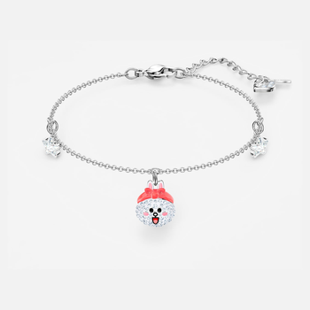 Line Friends Healthy Bracelet, Light multi-colored, Rhodium plated