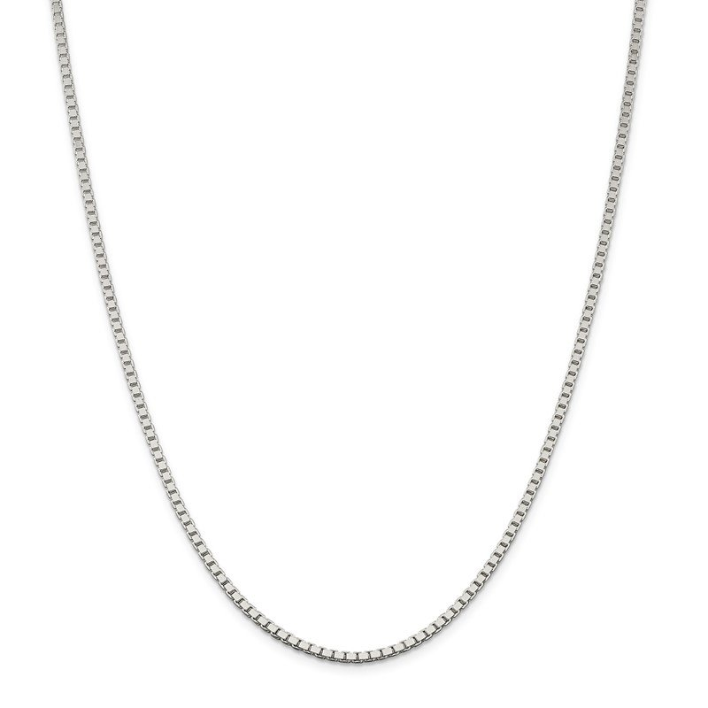 Sterling Silver 2.5mm Box Chain