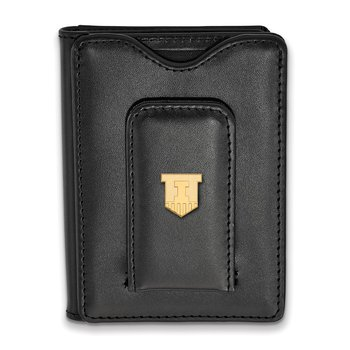 Gold-Plated Sterling Silver University of Illinois NCAA Wallet
