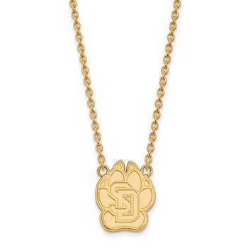Gold University of South Dakota NCAA Necklace