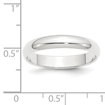 Platinum 4mm Half-Round Featherweight Band