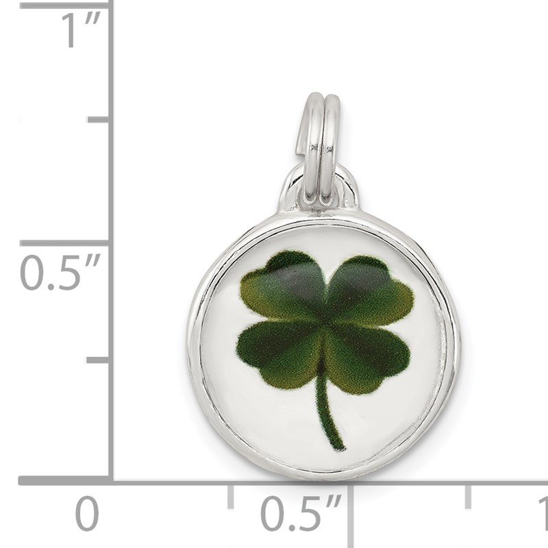 Quality Gold Sterling Silver Four Leaf Clover Charm