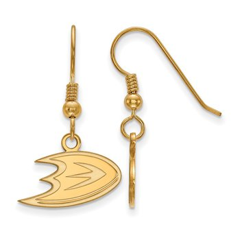 Gold-Plated Sterling Silver Anaheim Ducks NHL Earrings