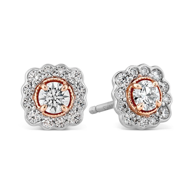 Hearts on Fire 0.56 ctw. Liliana Flower Stud Earrings w/Platinum