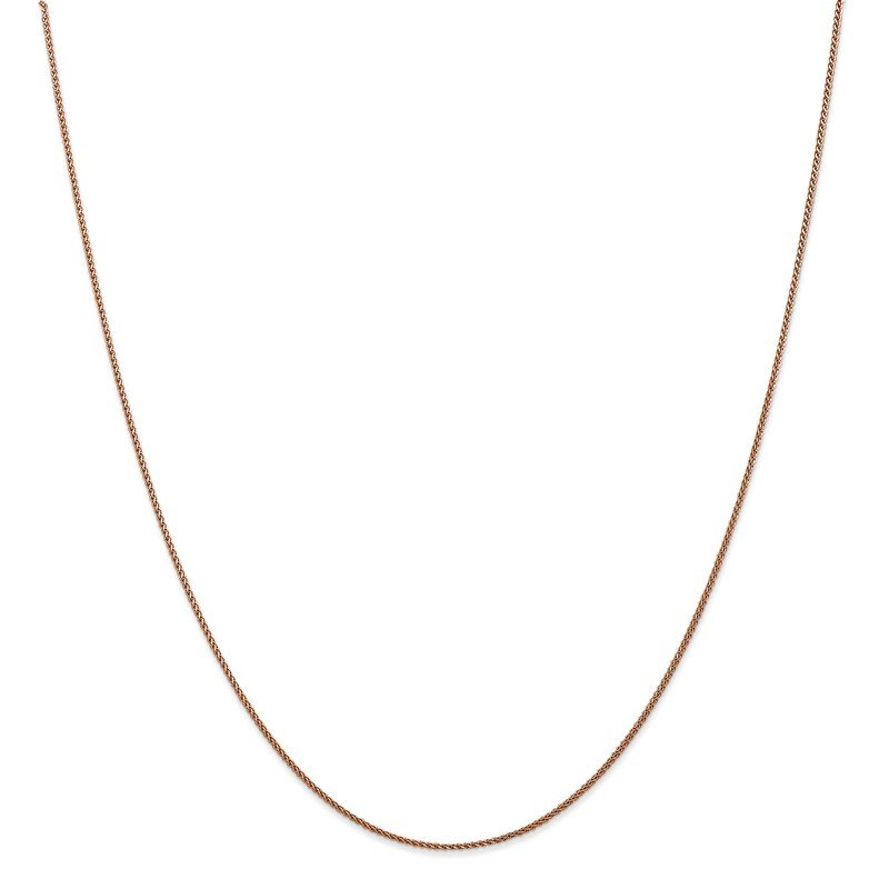 Leslie's Leslie's 14K Rose Gold 1mm Spiga (Wheat) Chain