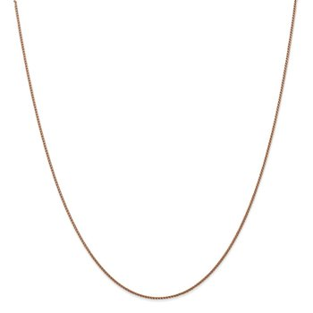 Leslie's 14K Rose Gold 1mm Spiga (Wheat) Chain