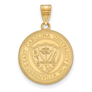 Gold-Plated Sterling Silver East Carolina University NCAA Pendant