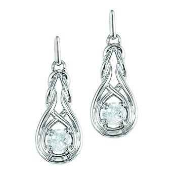 Silver Pearl Earrings (Available In all BirthStones)
